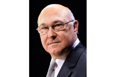 Michel Sapin, French MP, in charge of the program of Socialist Party (PS) candidate for the 2012...