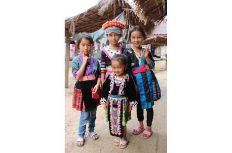 Cambodge-Laos- Enfants hmongs